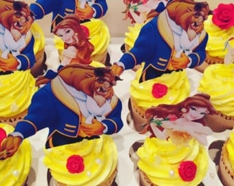LOCAL ONLY, Beauty and the Beast Themed Cupcakes