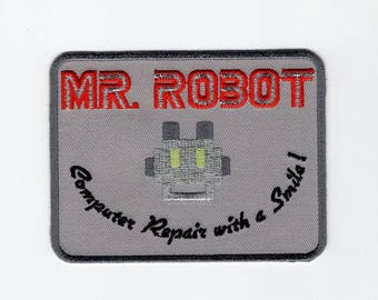 MR Robot FSOCIETY TV Show Embroidery Patch Halloween costume Badge hook
