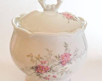 Sologne Lamotte porcelain sugar bowl - french Sugar Bowl.