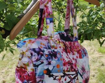 "Handbag ""Harmony"" - Asian with fabric handles"