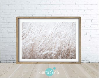Wild Grass Print, Nature, Poster, Glamour, Relaxed Vibe, Costal, Neutral, Cream, Calming Palette, Home Decor, Interior Design, Trending.