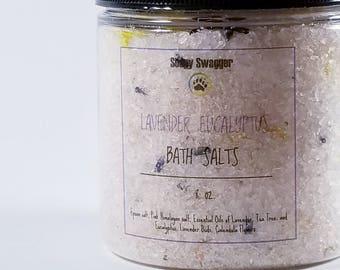 Soothing Lavender Mint Bath Salt - Bath Soak - Himalayan Bath Salt - Detox Salts -  8 oz.