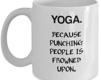 Yoga Mug, Namaste Mug, Yoga lover mug, Motivational mug, Yoga Quote, Yoga teacher gift, Yoga Cup, Funny Mug, Gifts For Her