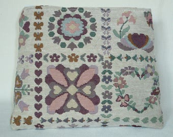 Jacquard pattern of stylized flowers Kit