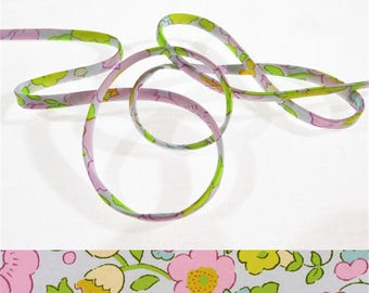 Cord Liberty Betsy - Beryl pink x 50 cm, Liberty Tana Lawn for bracelet, jewelry, sewing...
