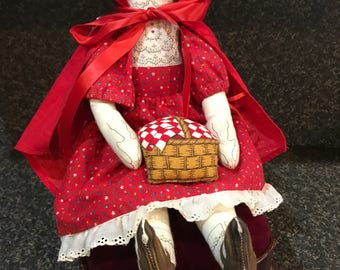 Little Red Riding Hood Doll & Chair