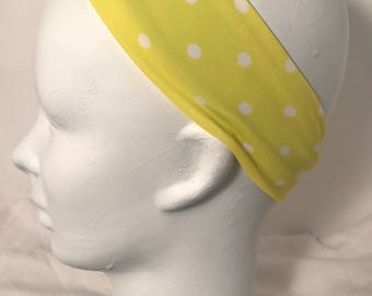 Yellow & White Polka Dot