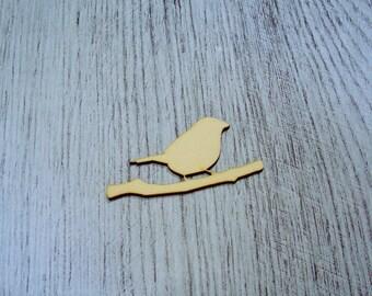 little bird 1322 embellishment wooden creations
