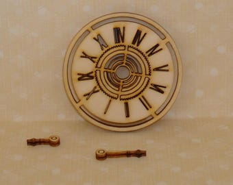 Dial clock with needles 00120 has nothing but happiness for scrapbooking set