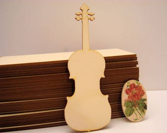 violin 1931embellissement wood for your creations