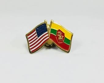 Lithuania-America Duo Pin