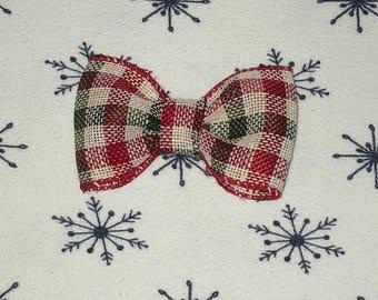 Christmas Plaid Hair Clip
