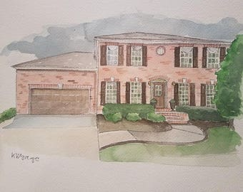 Water Color House Portraits