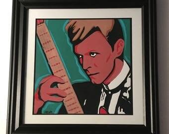 "Framed ""Bowie"" Print"