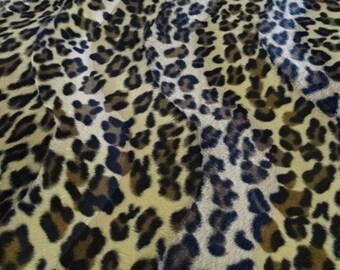 "Fabric ""velboa"" imitation animal leopard print"