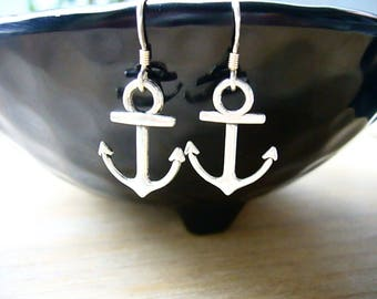 Anchor Earrings, Beach Wedding Jewelry, Marine Earrings, Silver Anchor Earrings, Nautical Jewelry, Beach Lover Gift, Ocean Jewelry