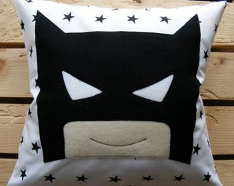 Superhero,pillow and cushion cover,boy,gift,handmade,kids,gift ideas,birthday,batman