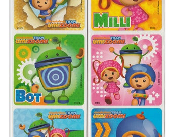 "25 Team Umizoomi Stickers, 2.5"" x 2.5"""
