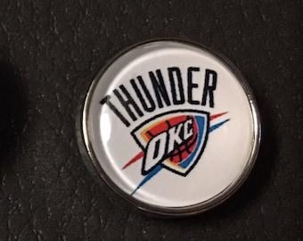 OKC Thunder 20 mm snap charm