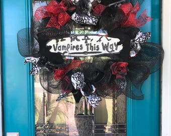 Halloween/ Vampire wreath