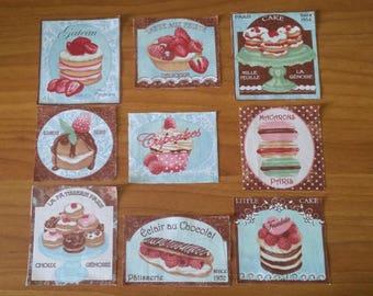 Cupcake pattern fabric (9 designs)