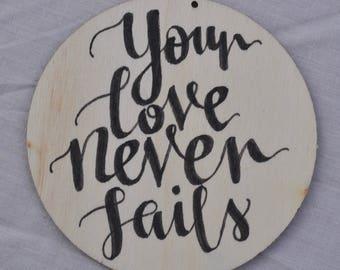 Decoration/Coaster 'Your Love'