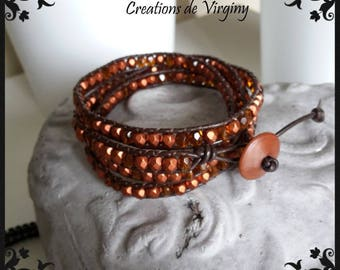 Style wrap bracelet Chan Luu red copper