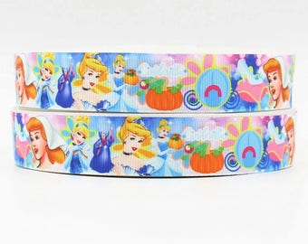 128 - Ribbon Cinderella - grosgrain - 22 mm sold by 50 CM - Cinderella ribbon