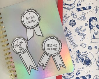 Adult Reward Stickers, black and white, pack of three. (large)