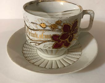 Vintage milk cup and saucer