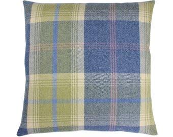 Balmoral Chambray Checked Tartan Plaid Cushion Cover