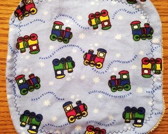 Baby Washcloth- Trains