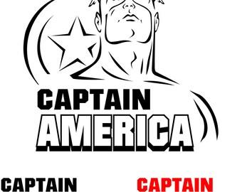 Captain America.Svg.Dfx.Eps.Pdf.Png.