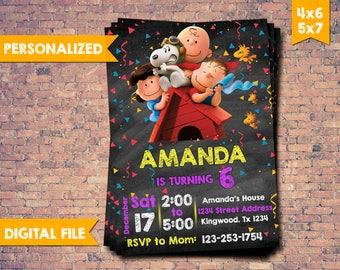 Snoopy Invitation, Snoopy Birthday Invitation, Snoopy Birthday, Snoopy Invite, Snoopy Printable, Snoopy Party,Snoopy Card,digital invitation