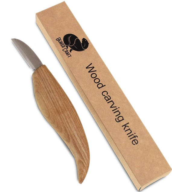 Beavercraft cutting knife for fine chip carving wood and