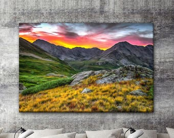 Alpine Sunrise canvas, Mountains canvas print, Nature canvas printing, Wall Art, Home decor, Landscape canvas, Gift for her, Gift for him
