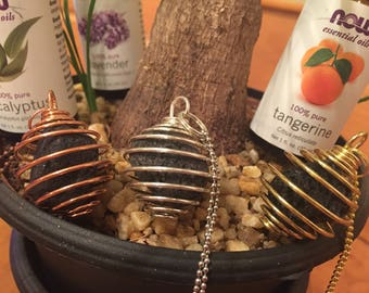 Essential Oil Lava Rock Necklace