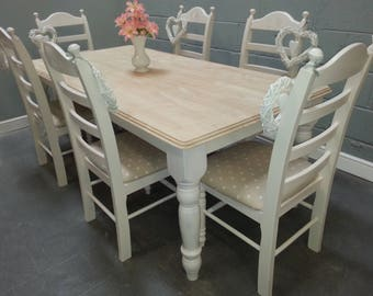 Stunning 6ft x 3ft Farmhouse Table Set - Bespoke