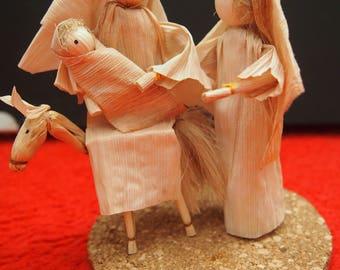 Betlehem (nativity set)  from corn husk - first type