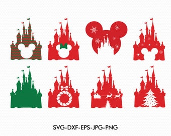 christmas disney castle svg disney castle monogram mickey minnie mouse svg fles disney