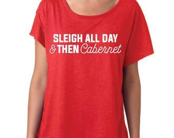 Christmas Shirt, SVG, SVG Files, svg cutting files, Sleigh All Day, Sleigh All Day SVG, svg Christmas, svg silhouette, svg files Christmas