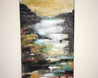 Seascape abstract acrylic on canvas art