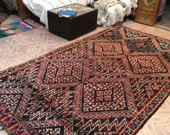 Beni M'Guild vintage  carpet,320x185cm, Moroccan carpet, wool rug, Beni M'Guild rug, vintage carpet, berber textiles, berber carpet,