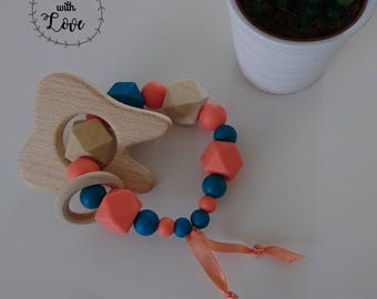 Teether wood and Silicone beads