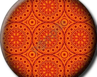 Cabochon resin 25 mm - orange (232) stick