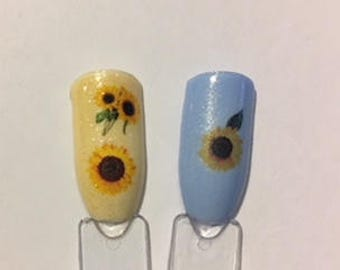 Sunflower Nail Decal Designs