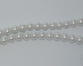 20 diameter 12mm White Pearl glass beads