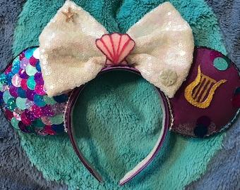 Neverland Mermaid Peter Pan Inspired Disney Ears Headband