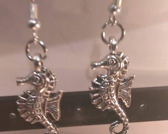 Seahorse Earrings Silver