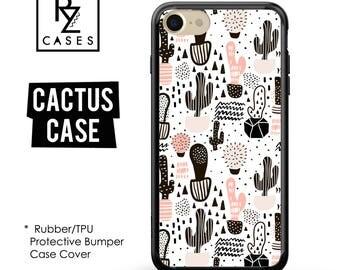 Cactus Phone Case, Cactus iPhone Case, Cactus Case, Cacti, iPhone 7, Gift for Her, iPhone 7 Plus, iPhone 6S, Rubber, Bumper Case